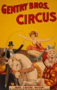 "Vintage Advertising Poster ""Gentry Bros Circus"""
